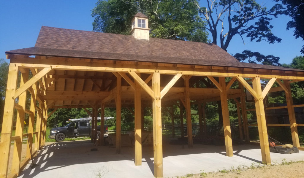 Heritage Post and Beam Barn Construction