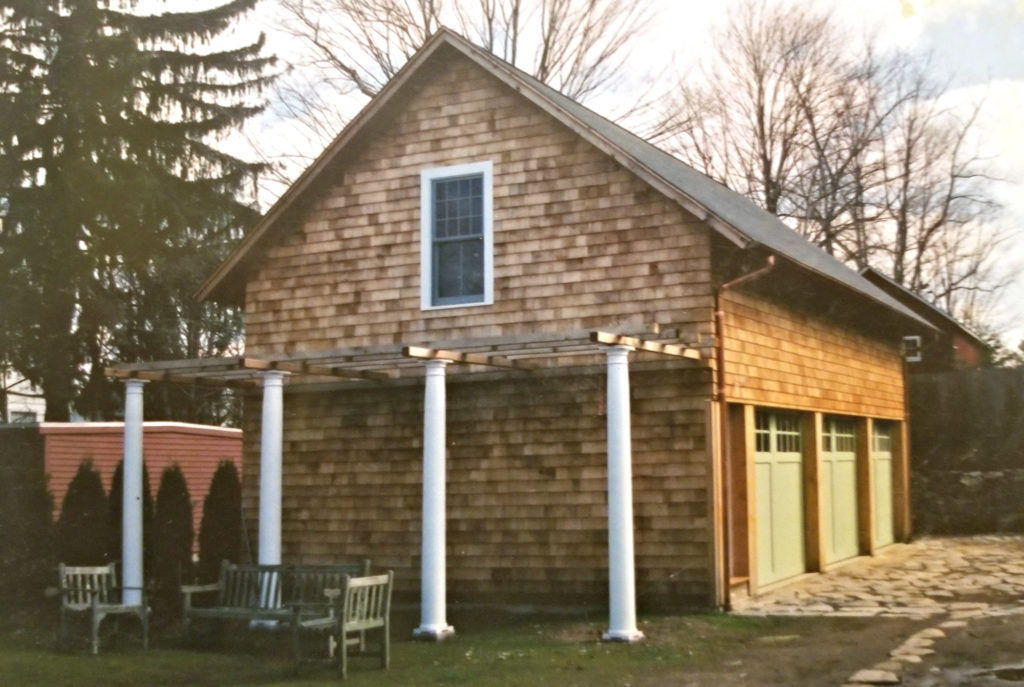 Heritage Post and Beam Pool House Construction