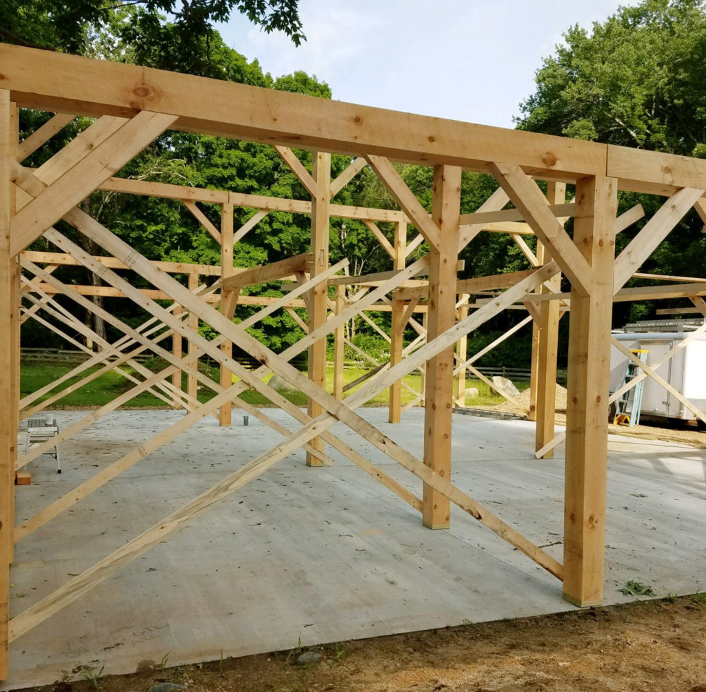 Heritage Post and Beam Barn Framing