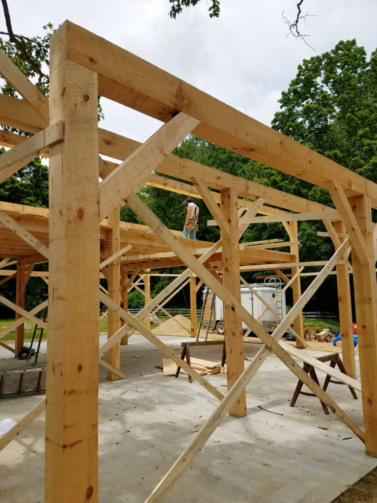 Heritage Post and Beam Country Barn Construction