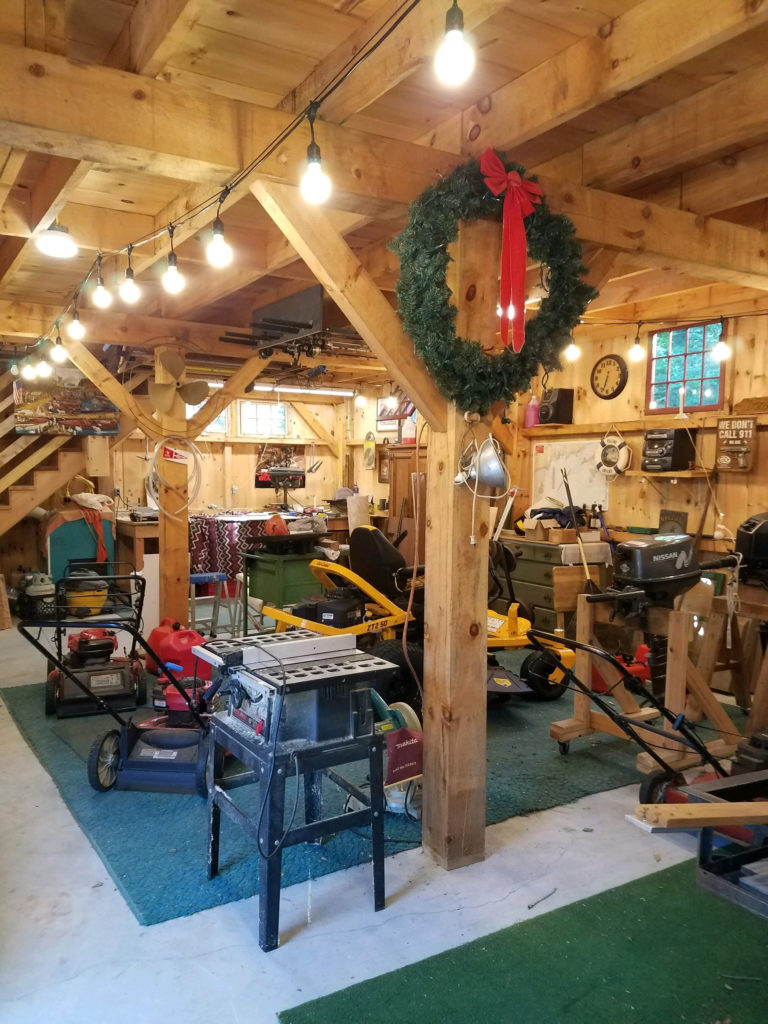 Heritage Post and Beam Country Barn Interior