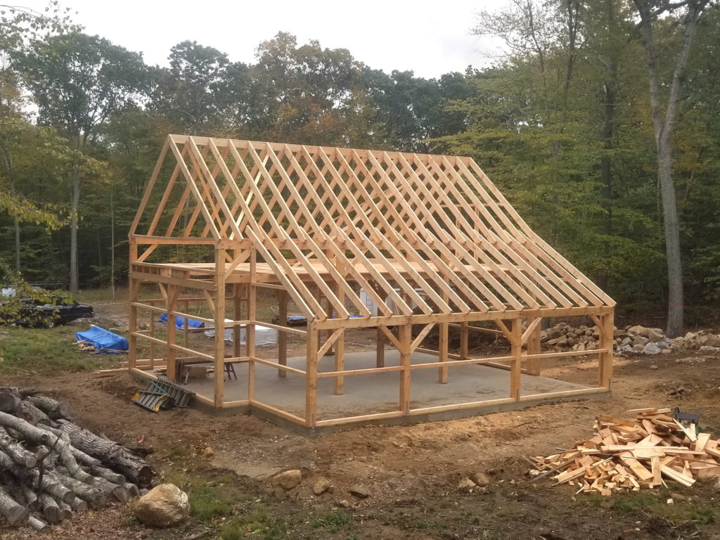 Heritage Post and Beam Country Barn Framing