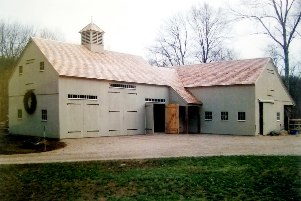 Heritage Post and Beam Horse Barn Construction